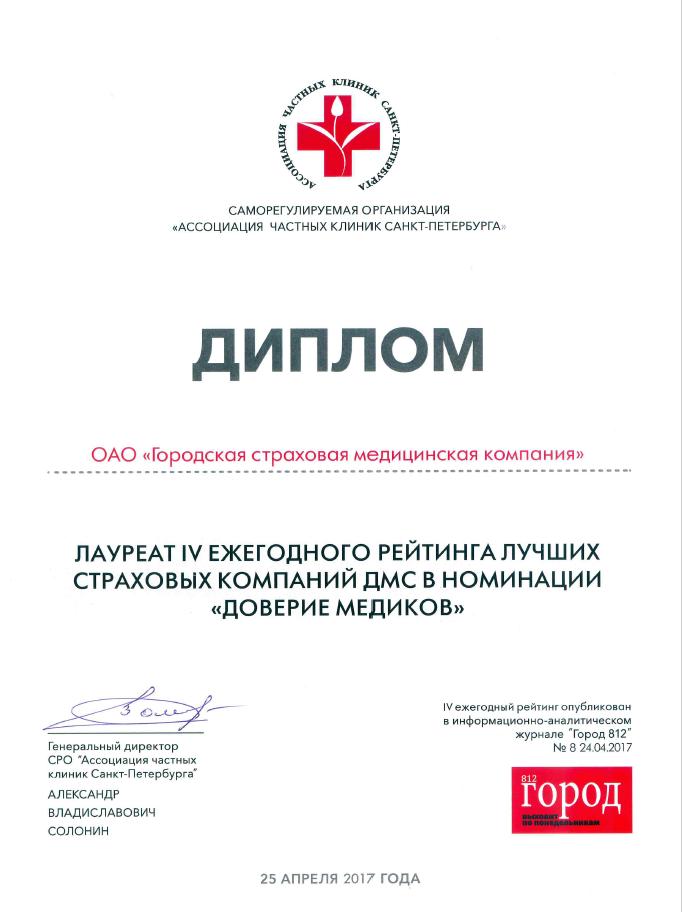 диплом добровольное медицинское страхование